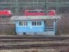 Inzwischen abgerissenes Bahnhaus am Güterbahnhof.