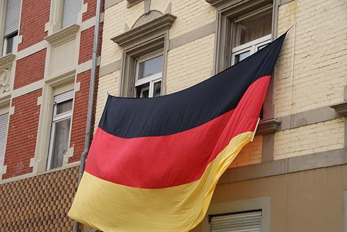 Fußball WM 2010 Fahne Marienstraße