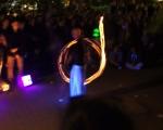 Curbside Prophets und die Feuershow