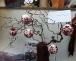 Weihnachtskugeln aus Wolle