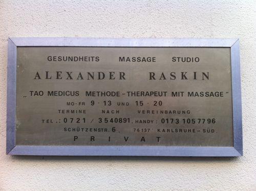 Alexander Raskin – Gesundheits und Massagepraxis