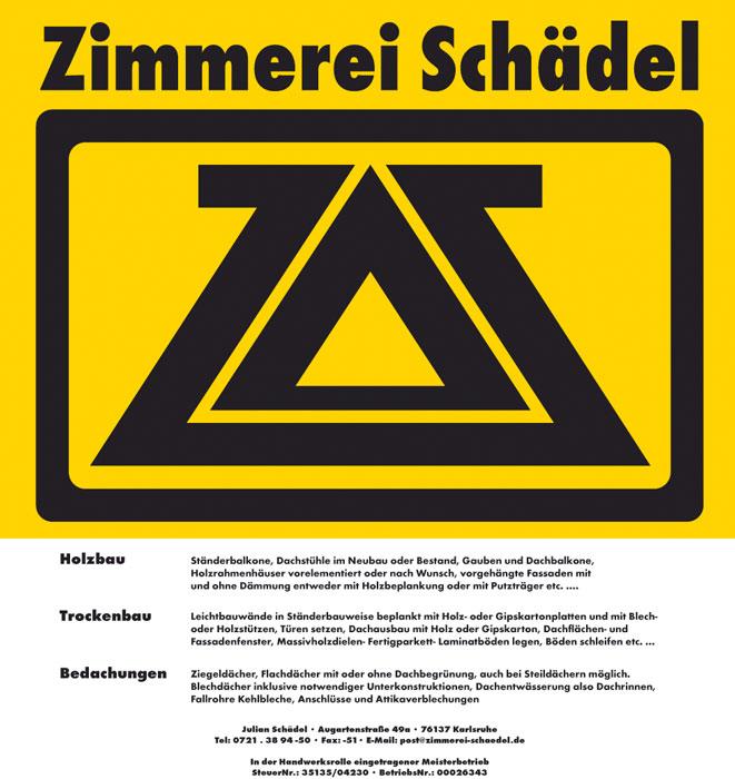 Zimmerei Schädel – Holzbau, Trockenbau, Bedachungen