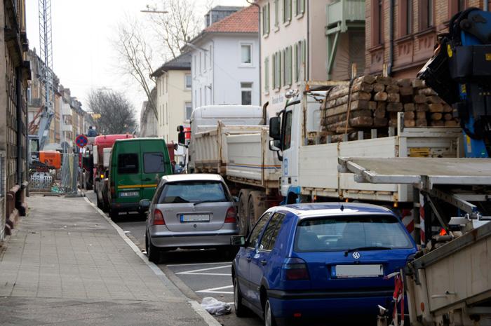 1 Stunde Stau in der Augartenstraße