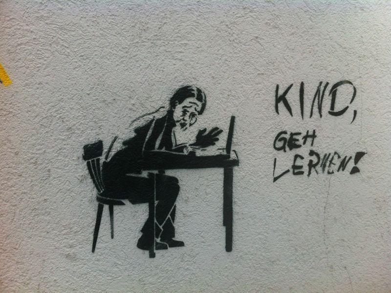 Graffiti am Indianerspielplatz