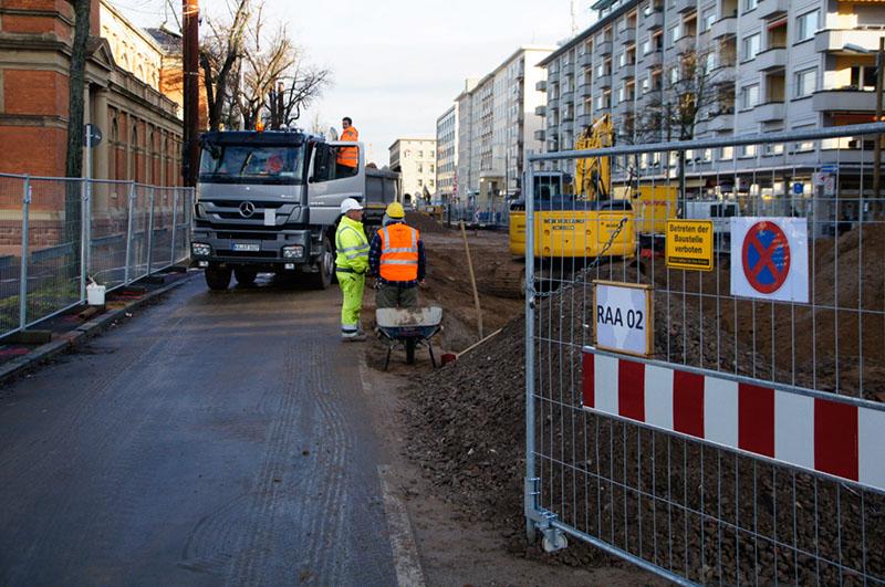 Baustelle Ettlingerstrasse