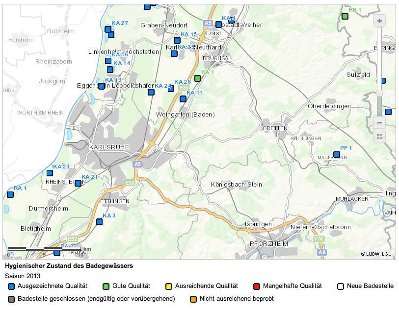 Ausgezeichnete Badegewässerqualität rund um die Südstadt