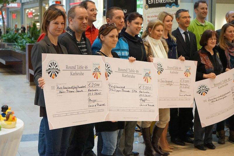 Gewinner des Entenrennens 2014