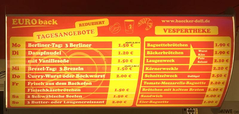 EUROback Angebote