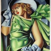 Ölgemälde (Kopie) von Tamara de Lempicka -  Jeune fille au vent